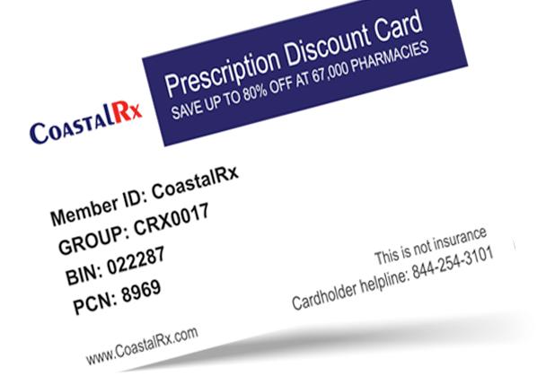 CoastalRx Discount Card LP- design