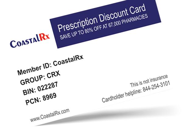 CoastalRx Discount Card - design